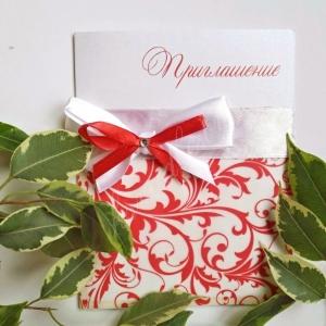 """Приглашение на свадьбу""""Красный бант"""""""
