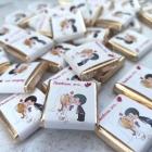 Свадебный шоколад с монограммой